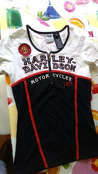 camiseta chica harley davidson