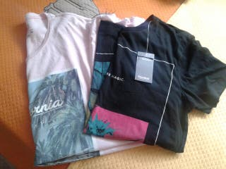 2 camisetas pull and bear t.36