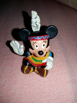 figura pvc goma Mickey indio descatalogado