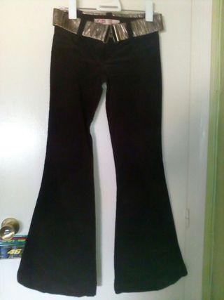 Pantalon pana fina marron