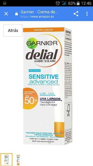 Garnier Crema de Rostro y Escote Delial Sensitive