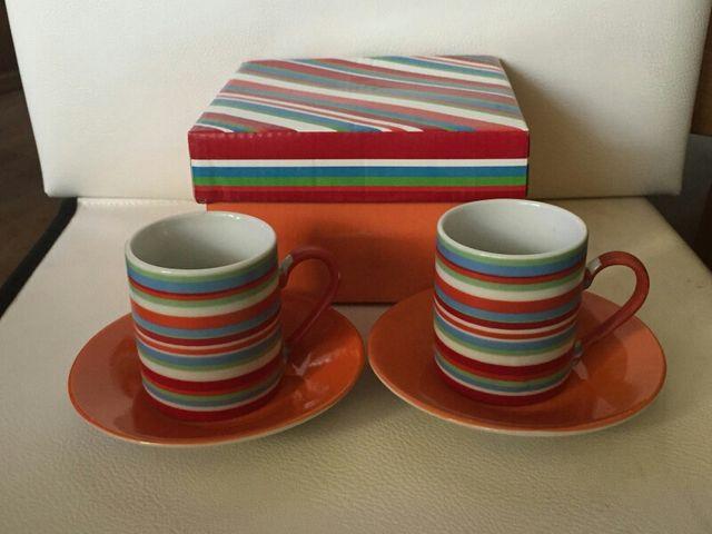 juego de cafe, tazas y platos