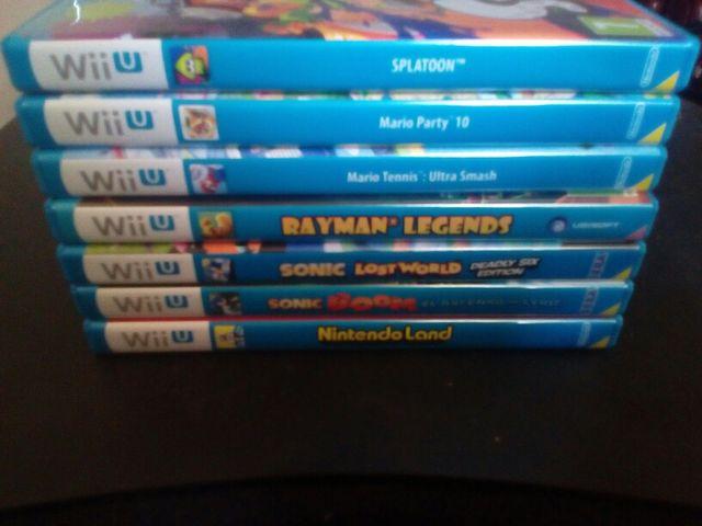 vendo 7 juegos de WiiU