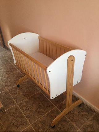 Mini cuña bebé con colchón 40x90