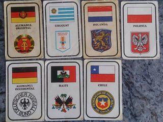 22 cromos de chocolates Zahor del mundial de 1974.