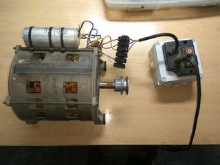 motor de lavadora antigua
