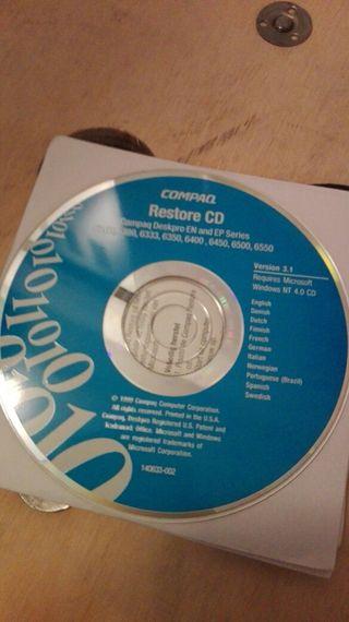 Disco Restore Compaq 6300 6400 6500