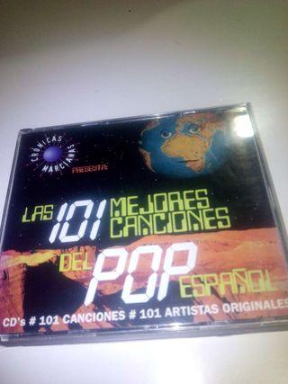 Las 101 Mejores Canciones del Pop Español. 4 CD.Música. Coleccion.Ocio.Srerviciod.Originales.