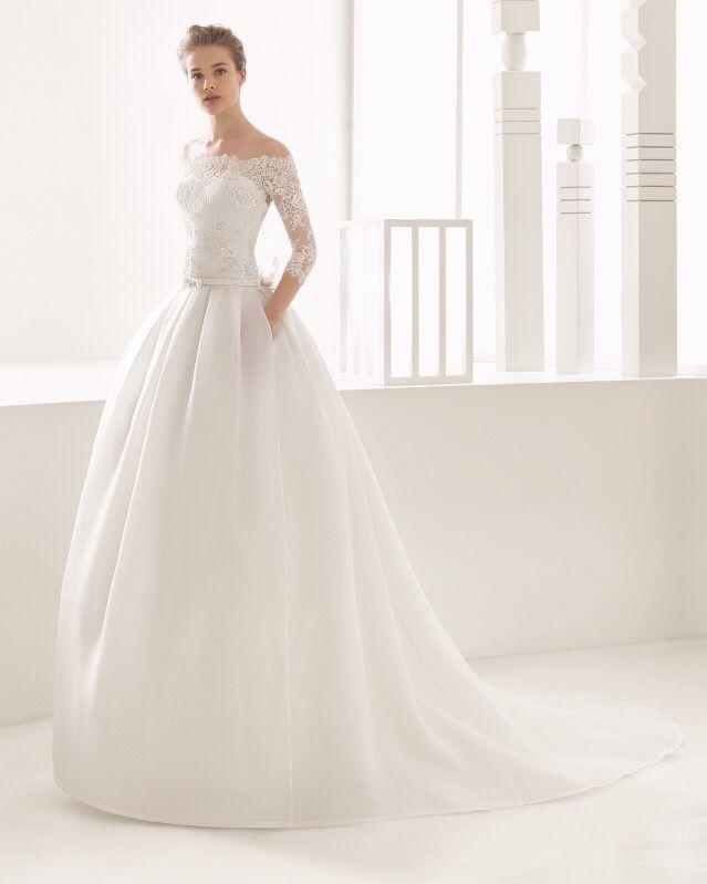 Vestido novia rosa clara