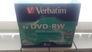caja 5 dvd -rw