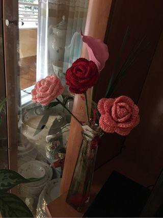 Rosa ganchillo