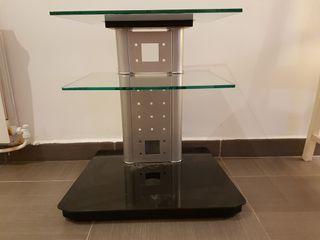Mesa TV Cristal y Aluminio