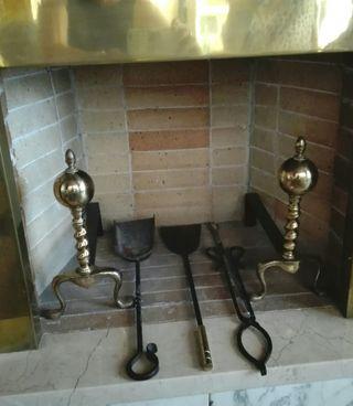 Utensilos chimenea vintage