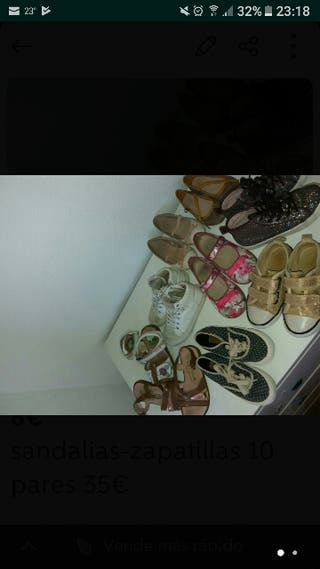 Lote sandalia y zapatillas varios modelos y tallas