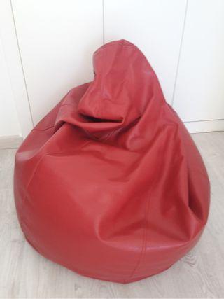 Puff Polipiel Rojo