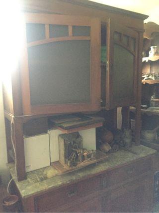 Mueble aparador alacena antigua de segunda mano por 300 en valladolid en wallapop - Muebles segunda mano valladolid ...