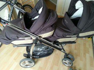 Carro doble gemelar ideal gemelos o mellizos