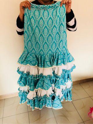 Falda o traje flamenca mujer