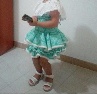 Falda flamenca niña. Traje flamenco
