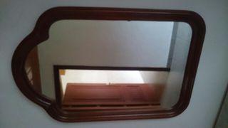 Espejo marco madera vintage