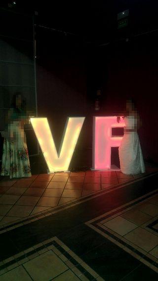 letras XL led boda