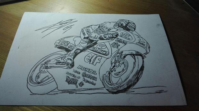 Dibujos A Lapiz Motos 15 X 20 Cms De Segunda Mano Por 6 En