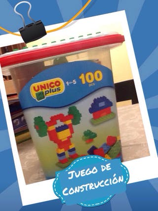 Juego de montaje infantil con 100 piezas grandes
