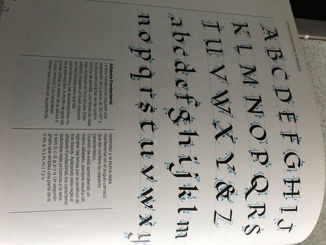 Libro tecnicas de caligrafia
