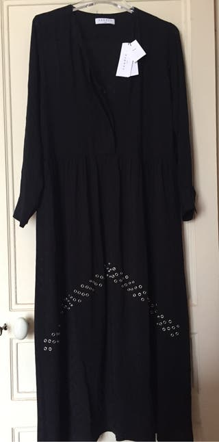 Robe longue noir Sandro