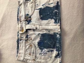 Minifalda tejana blanco
