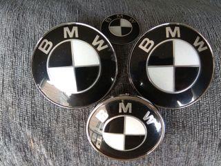 2 X EMBLEMAS BMW NEGRO/BLANCO