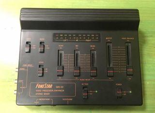 Mesa de mezclas audio y video