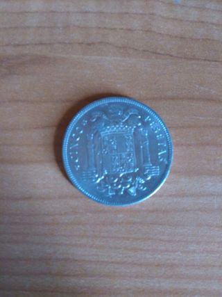 Moneda: 5 pesetas de 1949