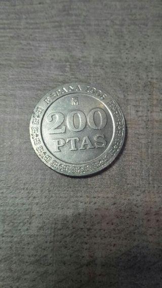 Moneda de 200 pesetas año 1998
