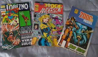 Lote Comics Marvel Lobezno DanDare JudgeAnderson