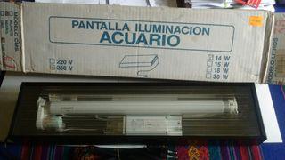 pantalla iluminacion acuario 38 litros