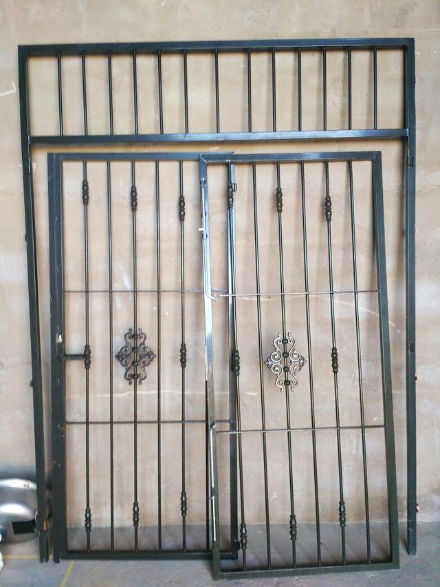 puerta reja 2hojas