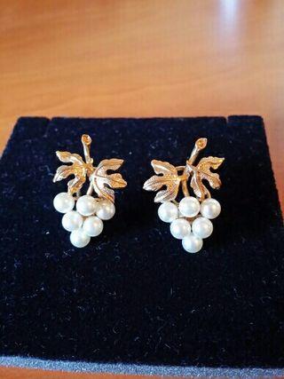 Pendientes perlas (no plástico )NO HAGO ENVÍOS