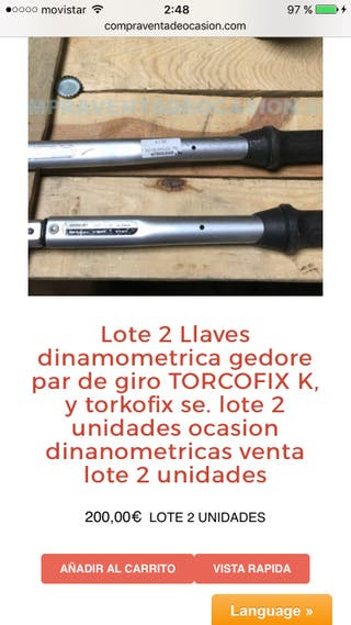 2 llaves dinamometrica gedore torcofix K