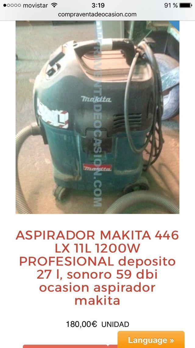 Aspirador makita 446 LX 11L de 27 litros 1200W