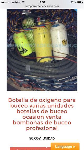 Botella oxigeno de buceo ocasión bombona buceo