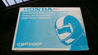 Honda CBR 600 F 1989 Manual Usuario
