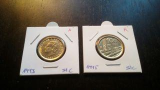 Monedas 100 pesetas 1995 S/C ambas lises