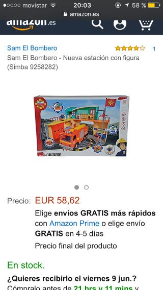 Estacion de Bomberos Sam,oferta!!! Con caja nuevo.