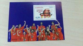 Sello España Campeones Mundo Baloncesto 2006