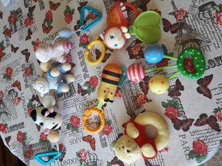 Lote 5 juguetes bebe para carro