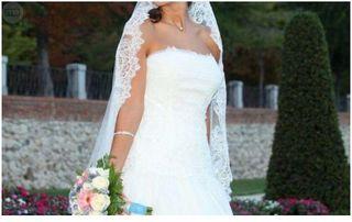 Vestido novia rosa clara bcn