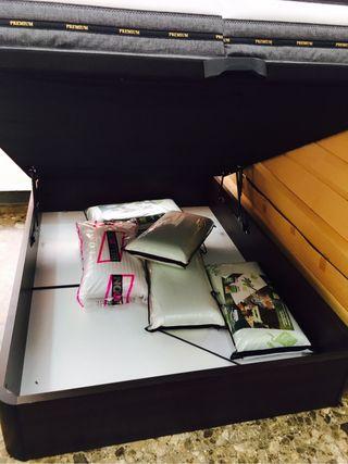 Canape 135 y 150x190 + colchon visco gel nuevos!