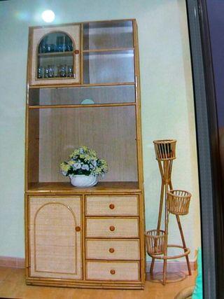Mueble de mimbre de segunda mano en madrid en wallapop for Muebles de segundamano madrid