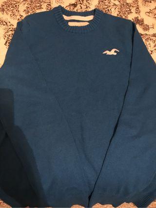 Jersey azul Hollister talla M